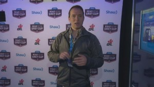 Weather Specilaist takes us on a tour of the Shaw Road to the Grey Cup Tent