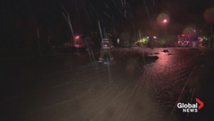Raw video: Heavy flooding in North Vancouver