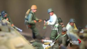 WWI and WWII battle scenes depicted through dioramas by New Brunswick modeler