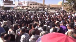 Tens of thousands of Yemenis protest against Shiite rebels
