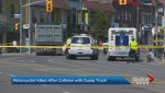 Motorcyclist killed in crash with dump truck at west-end Toronto