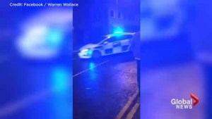 Cop in England responds to 911 call with 180-degree hand brake stop