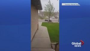 Windy day in Saskatoon
