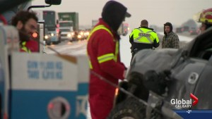 Winters return causes collisions in Calgary