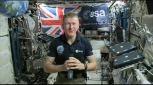 British Astronaut Tim Peake delivers his first interview from aboard the ISS