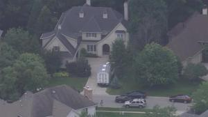 Aerial footage: police surround the home of former Subway pitchman Jared Fogle