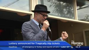 Tragically Hip lottery gives fans another shot at concert tickets