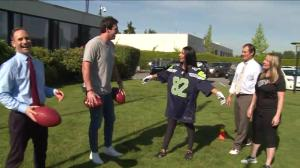 Luke Willson's Global News Morning Tight End Training Camp: part 2