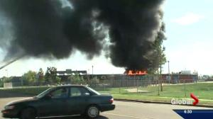 Catholic school representative talks about fire at south Edmonton school