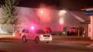 Fire crews battle two blazes