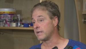RAW: Winnipeg Jets Alumni Goalie Daniel Berthiaume
