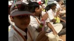 Thousands of kids in India set Guinness World Record for tooth brushing