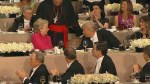 Hillary Clinton, Donald Trump shake hands after speeches at charity dinner