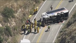 Dozens injured, two critically in California bus crash