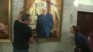 Official portrait of Dave Hancock revealed