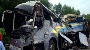 10 killed, dozens injured after bus overturns in China