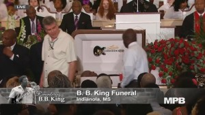Footage of blues legend B.B. King funeral service in Mississippi