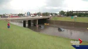 City crews still cleaning up at night after Edmonton slammed by storm