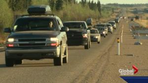 Fort McMurray wildfire: Evacuees stranded since Tuesday move south