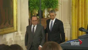 Hollande, Obama discuss war against ISIS