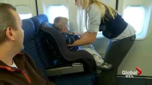 TSB urges safety restraints for young kids on planes