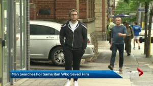Toronto man searches for Good Samaritan who saved his life after brutal fall