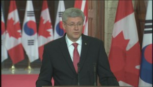 Harper responds to ISIS threat targeting Canada