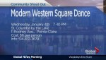 COMMUNITY EVENTS: Modern western square dance party