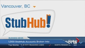 BIV: 1000 StubHub accounts broken into