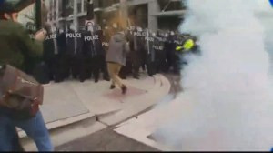 Trump Inauguration: Police use flash bangs against protesters in Washington