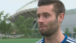 'I'm not the type of guy to just sit on the side': FC Edmonton midfielder continues to rehab knee injury