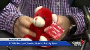 RCMP recover stolen goods, teddy bear