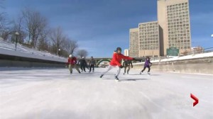 Skating down the Rideau Canal
