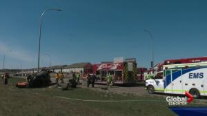 Edmonton man says he's lucky to be alive after being pinned in serious crash