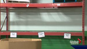 Edmonton's Food Bank struggling to keep food on the shelves