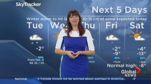 Global News Morning weather forecast: Tuesday, January 24