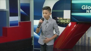 Vocalist of the World Ethan David performs on the Morning Show