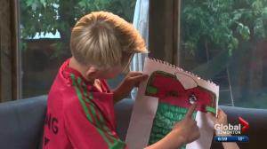 Adidas turns boy's drawings into custom-designed soccer jersey, cleats
