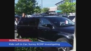 Surrey police investigating after young children left in car