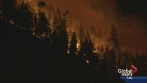 Westside Road fire Monday night