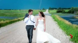 Tornado photo bomb goes viral