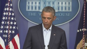 Obama once again calls for calm and peace in Ferguson