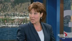 BC Premier Christy Clark visits Global Okanagan News at 5