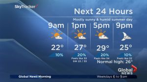 Global News Morning weather forecast: Thursday, July 6