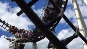 Video of roller coaster stuck midway through ride at U.S. theme park