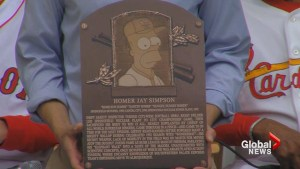 Homer Simpson enshrined into baseball's Hall of Fame
