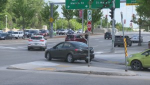 Drivers roll through stop sign at Winnipeg intersection