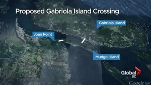 Proposed Gabriola Island bridge crossing