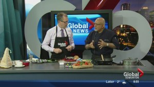 In the Global Edmonton kitchen with chef Vinod