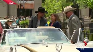 Paul Brandt and Jann Arden 2016 Calgary Stampede Parade marshals
